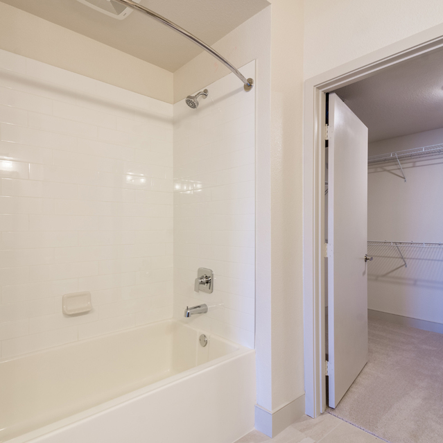 The Braydon - Bathroom With Bathtub And Massive Walk In Closet